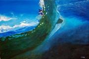 tableau sport mer vague profondeur surfeur : Other side