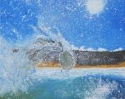 tableau sport surf ocean vague board : Airial