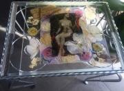 deco design personnages romantique femme collage fleur secheees : romantique