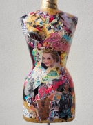 deco design personnages mannequin femme vintage colore : La Parisienne