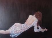 tableau personnages femme couchee sensuelle : Sensualité