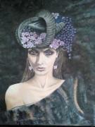 """tableau personnages femme tete automne : """"Belavia"""""""
