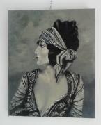 tableau personnages femme brune bandeau : le bandeau