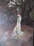 """tableau personnages femme jeune eau foret : """"En eau trouble"""""""