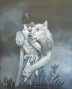 """tableau personnages femme lionne complicite : """"La lionne"""""""