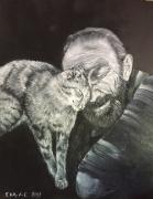 "tableau homme chat amour : ""Mon chat mon amour"""
