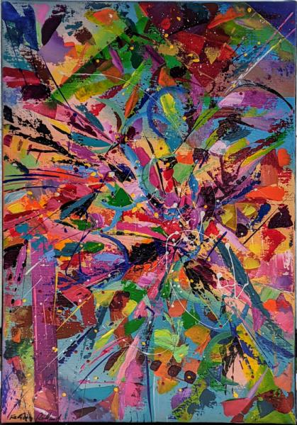 TABLEAU PEINTURE Abstrait Acrylique  - Iristus
