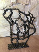 sculpture autres sculpture buste acier oeuvre : FEMINA