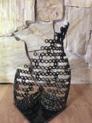 sculpture autres sculpture acier buste oeuvre : SOUS LE VENT
