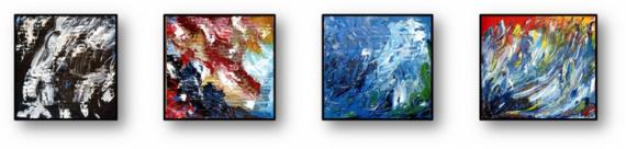 TABLEAU PEINTURE eau ocean plongee Paysages Peinture a l'huile  - Tout là-bas c'est différent