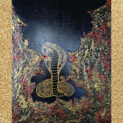tableau animaux serpent cobra : Serpent d'or