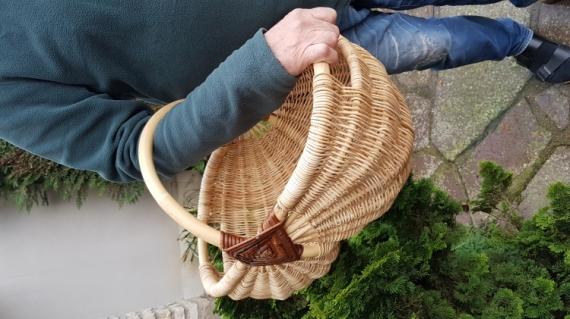 AUTRES panier rotin brut  - Panier lourd facile à porter