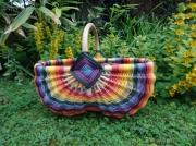 autres autres panier rotin couleur : Panier multicolore