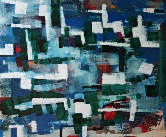 TABLEAU PEINTURE Abstract Expressionism Modern Art Hexebitionism Abstrait  - Eternal Vision