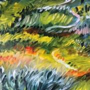 """tableau paysages impressionnisme italie campagne piemont : """"Campagne Piémontaise"""