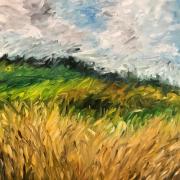 """tableau paysages champs ble : """"Champs de blé"""""""