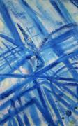 tableau abstrait tableau couleur sable : Croisement