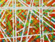 tableau abstrait tableau couleur : Métallique