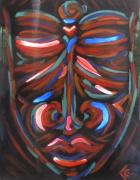 tableau autres tableau luminaire ethnique : Tableau lumineux masque