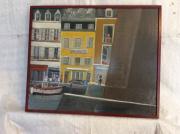 tableau paysages bretagne port maison du port belleile : Leport de Le Palais Belle ile