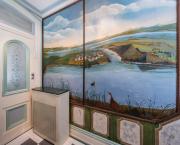 tableau paysages la mer norvege oiseaux : Fresque