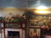 autres paysages lacs montagne sapins : Fresque murale