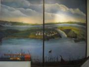 tableau paysages fjords norvege fresque murale : Fresque