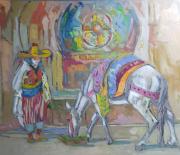 tableau animaux : Cheval en pause