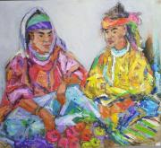 tableau personnages : Les deux marchandes