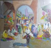 tableau villes : A l'entrée du souk