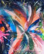tableau abstrait abstrait acrylic peinture art : explosion emotionelle