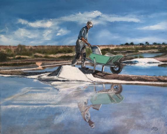 TABLEAU PEINTURE Scène de genre Peinture a l'huile  - Le Saunier