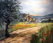 tableau paysages payage du centre de campagne arriere pays du midi : Vacances à la campagne