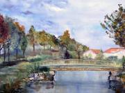 tableau paysages etang de la maratre arceau : L'étang de la Marâtre à Arceau