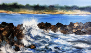 tableau marine bord de mer oleron pres de la cotiniere : La Perroche  la digue