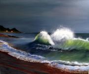 tableau marine plage sur oleron bord de cote : Vague à la Cotinière