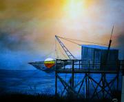 tableau paysages carrelet oleron pres de boyarville : La cabane de Hans