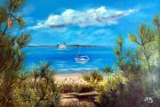 tableau paysages vu de la plage des s : Fort Boyard