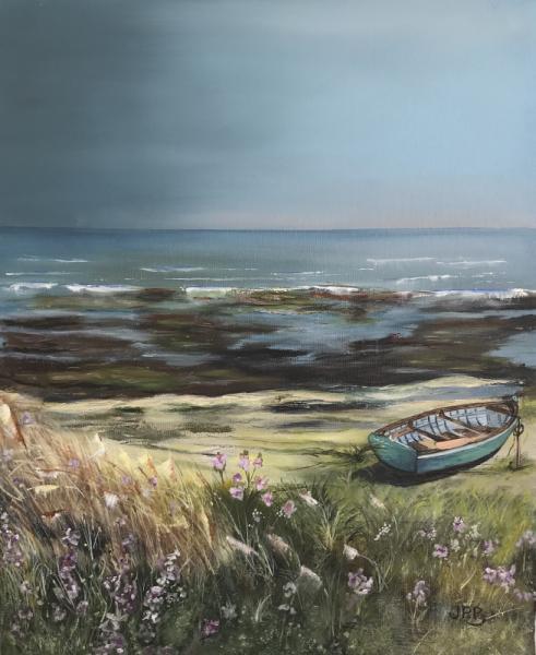 TABLEAU PEINTURE Paysages Peinture a l'huile  - Promenade sur la plage