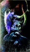tableau animaux gorille animal jungle primate : Gare au gorille