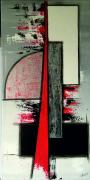 tableau abstrait tevun abstrait toile peinte ,a la ma : Tevun
