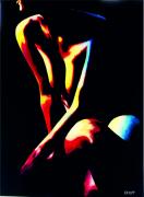 tableau nus nu sur fond noir toile peinte ,a la ma les nus de choup : Nu N°3