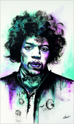 tableau personnages musique star guitariste hendrix : Jimmy Hendrix