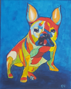 tableau pop art bouledogue bestiaire chien : N°8