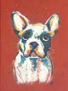 tableau animaux pop art bouledogue animaux bestiaire : N° 2