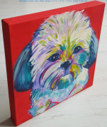 tableau animaux pop art bestiaire animaux colores : N°5