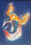 tableau animaux pop art animaux bouledogues francais bestiaire : N° 3