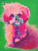 tableau animaux bestiaire animaux pop art chiens colores animaux colores : Création N° 20