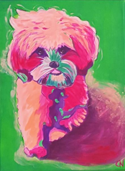 TABLEAU PEINTURE Bestiaire Animaux Pop Art Chiens colorés Animaux colorés Animaux Acrylique  - Création N° 20