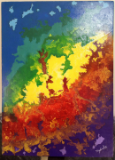 tableau abstrait toile peinture abstrait abstraite peinture acrylique tableau original : Magma